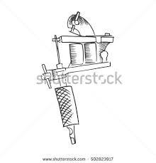 tattoo gun sketch tattoo gun vector stock vector 502823917 shutterstock