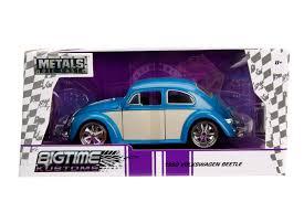 baby blue volkswagen beetle jada diecast metal 1 24 big time kustoms 1959 vw volkswagon beetle