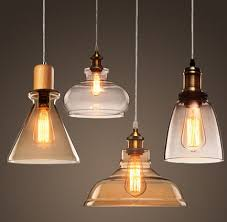 Vintage Pendant Light Fixtures Edison Loft Style Wood Glass Droplight Vintage Pendant Light