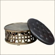Leather And Wood Coffee Table Leather Ottoman Coffee Table Foter