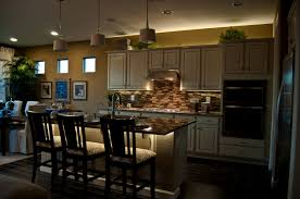 kitchen great kitchen decoration with blue led lighting strips