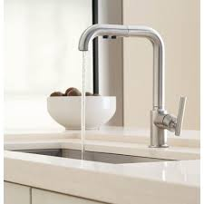 kohler purist kitchen faucet kohler purist kitchen faucet of k7505 bl pull out spray