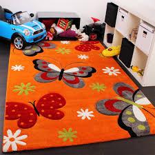 teppich kinderzimmer kinderteppich orange creme kinder teppiche
