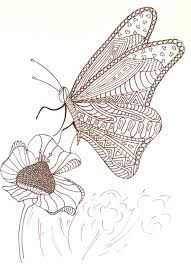 delicate butterfly coloring pages allfreepapercrafts com