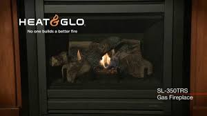 heat u0026 glo slimline sl 350trs gas fireplace video youtube