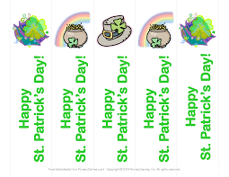 halloween printable bookmarks st patrick u0027s day worksheets st patrick u0027s day bookmarks