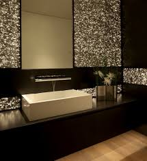 glitter bathroom wall ideas treatment gives this gorgeous