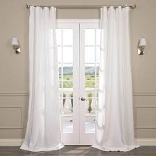 signature antique lace french linen sheer curtains