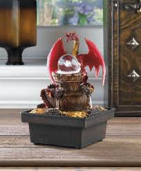 Water Fountain Home Decor Amazon Com Medieval Red Dragon Tabletop Water Fountain Home