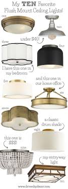 Flush Ceiling Lights For Bedroom Best Flush Mount Ceiling Lighting My 10 Faves From Inexpensive