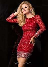 48356 fierce fitted sparkling sequin cocktail dress