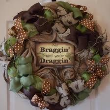 hunter burlap and mesh wreath rustic wreath outdoorsy wreath