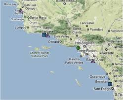 Solvang Map Coastal Upwelling And Harmful Algal Blooms In Southern California