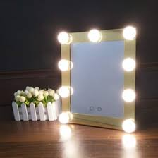 Vanity Makeup Lights Hollywood Tabletops Makeup Lighted Mirror Vanity Light With Dimmer