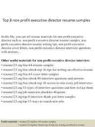 top 8 non profit executive director resume samples 1 638 jpg cb u003d1428369688