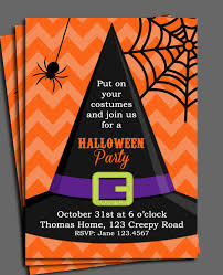 Halloween Birthday Invitations Printable Halloween Invitation Printable Or Printed With Free