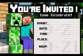 minecraft birthday invitations friendly minecraft invitation printable experience of a