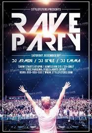 rave party psd flyer template 15742 styleflyers