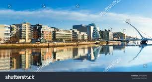 modern buildings modern buildings offices on liffey river stock photo 599920040