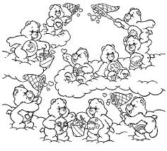 care bears catching heart shaped clouds coloring pages
