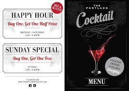 cocktail drinks menu drinks at the portland ashington
