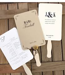 wedding program on a fan wedding program fan kit at craftysticks http www