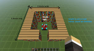 How To Build A Bookcase In Minecraft Level 50 Enchantments Legacy Support Archive Minecraft Forum