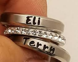 personalized rings for mothers mothers ring etsy