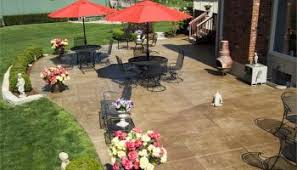patio stamped concrete overlay patio designs awesome stamped