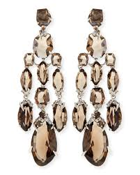 chandelier earings bittar smoky quartz diamond chandelier earrings in