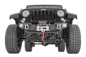 jeep front view rough country hybrid stubby front bumper 1062 on the way jeep