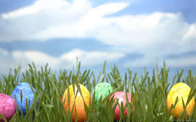 easter backdrops 1440x900 easter eggs in artificial grass wallpaper