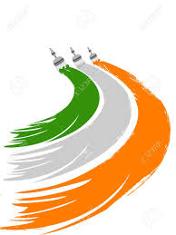 Indian Flag Cake A Greeting Draw With Indian Flag Colors By Paint Colors And Copy