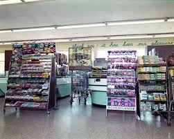 interior view of a winn dixie supermarket showing checkout