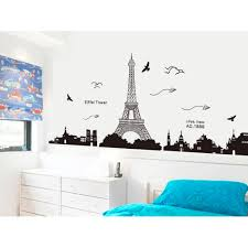 aliexpress com buy paris eiffel tower night view beautiful aliexpress com buy paris eiffel tower night view beautiful romantic simple black diy wall stickers wallpaper art decor mural room decal from reliable