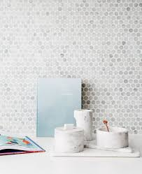 best  penny round tiles ideas on pinterest  modern bathroom  with kitchen marble pennyround mosaic tile splashback small marble circular  round storage boxes from pinterestcom