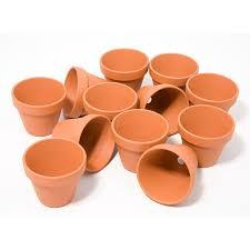 decoration avec des pots en terre cuite pots en terre cuite 7 cm hauteur ø 8 cm 12 pièces acheter en