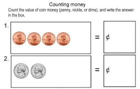counting pennies nickels dimes
