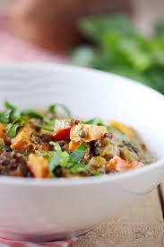 cuisine lentilles vertes dahl de lentilles vertes aubergine et patate douce chefnini