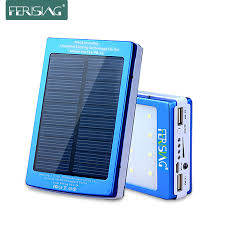solar power bank 100 real 15600mah dual usb battery portable led