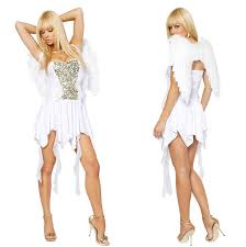 White Angel Halloween Costume Fancy Dress Sequined White Angel Costumes Halloween