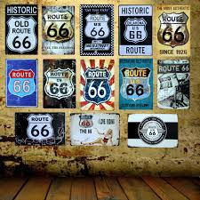 home pub decor aliexpress com buy mike86 route 66 i love riding metal sign