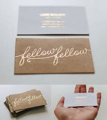Stamped Business Card Great Typography On A Gold Foil Stamped Business Card For A
