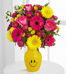 Bouquet Of Flowers In Vase Let Me See You Smile Mixed Flower Bouquet