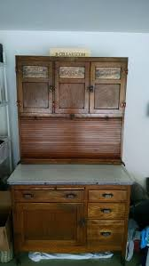 original oak hoosier mcdougall kitchen cabinet w flour bin sugar