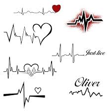 8 heartbeat tattoo designs that are worth trying heartbeat