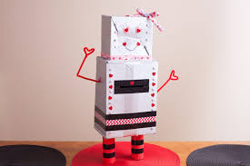 how to make a robot valentine u0027s day box with pictures ehow