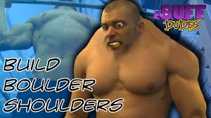 Buff Guy Meme - how to build boulder shoulders buff dudes youtube