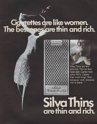 vintage 1970 ad cigarettes are like women the best ones are thin