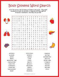 human body systems word search puzzle body systems word search